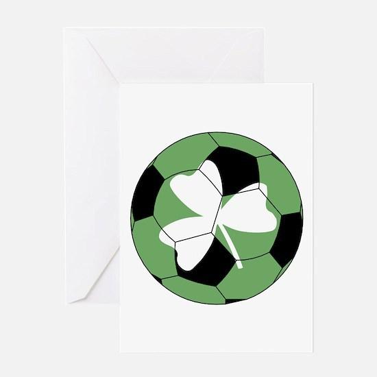 Soccer Shamrock Greeting Card
