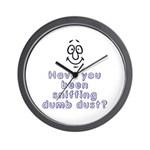 Sniffing Dumb Dust Wall Clock
