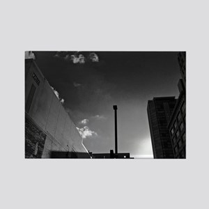 downtown-photo-207BW-Poster Rectangle Magnet