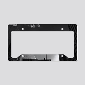 downtown-photo-207BW-Poster License Plate Holder