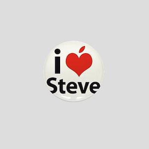 i love Steve Mini Button