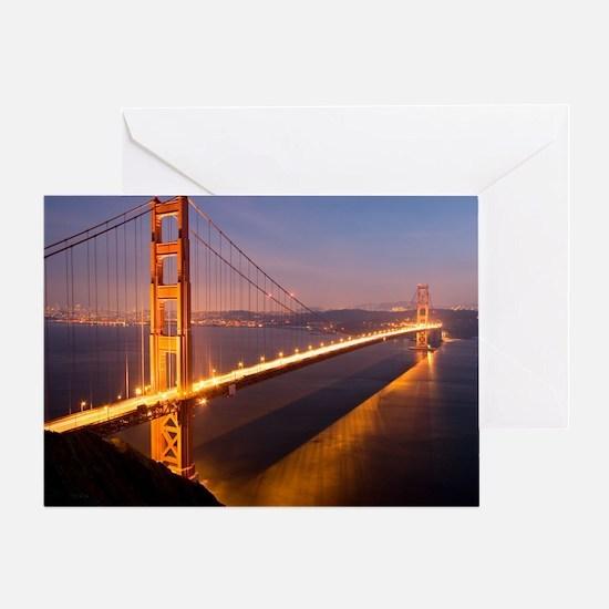 9x12_FramedPanelPrint_nightGGB1229 Greeting Card