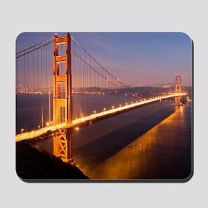 9x12_FramedPanelPrint_nightGGB1229 Mousepad