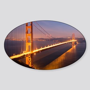 9x12_FramedPanelPrint_nightGGB1229 Sticker (Oval)