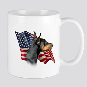 Doberman Flag Mug