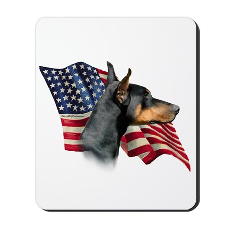 Doberman Flag Mousepad
