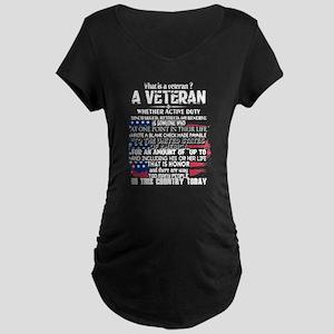What Is A Veteran T Shirt Maternity T-Shirt