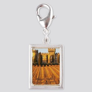 The vineyard with syrah vine Silver Portrait Charm