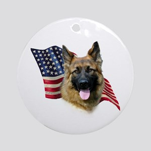 GSD Flag Ornament (Round)