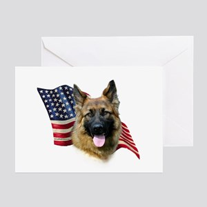 GSD Flag Greeting Cards (Pk of 10)