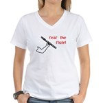 Fear the Flute Women's V-Neck T-Shirt