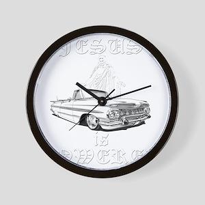 jesus-lowered-dk Wall Clock