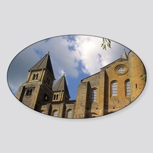 France: Conques, Benedictine Abbey  Sticker (Oval)