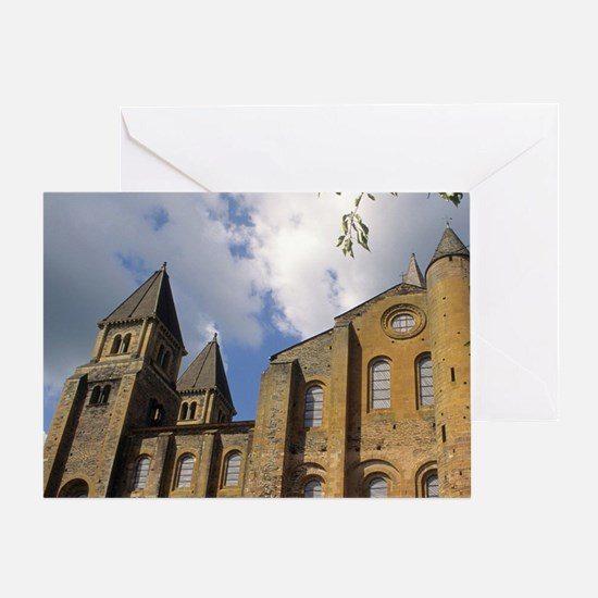 France: Conques, Benedictine Abbey C Greeting Card