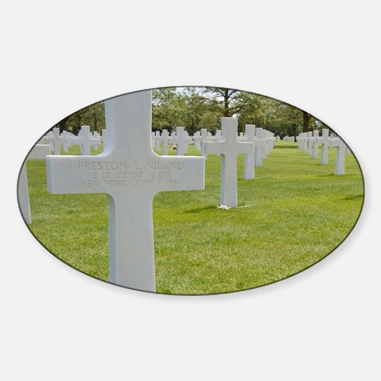 Brothers killed on D-Day that inspi Sticker (Oval)