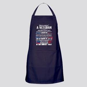 What Is A Veteran T Shirt Apron (dark)