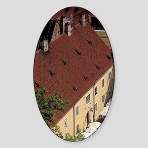 Courtyard seen from Round Towerohem Sticker (Oval)