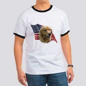 Golden Flag Ringer T
