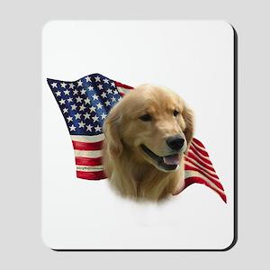 Golden Flag Mousepad