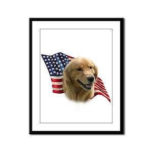 Golden Flag Framed Panel Print