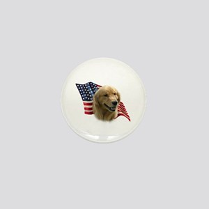 Golden Flag Mini Button