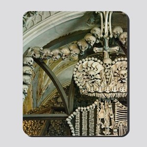 a church decorated with the bones of 40 Mousepad