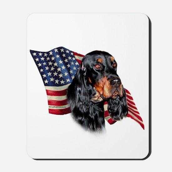 Gordon Setter Flag Mousepad