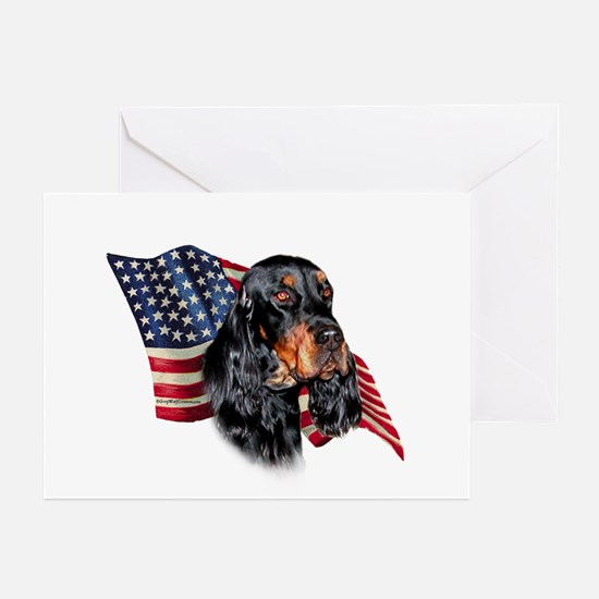 Gordon Setter Flag Greeting Cards (Pk of 10)
