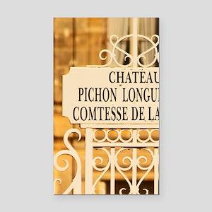 The Chateau Pichon Longuevill Rectangle Car Magnet