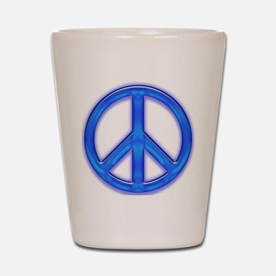 peaceGlowBlue Shot Glass