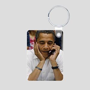 ART Obama iphone slider 4  Aluminum Photo Keychain
