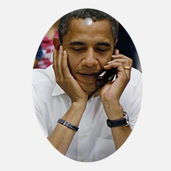 ART Obama iphone slider 4 case v1 Oval Ornament