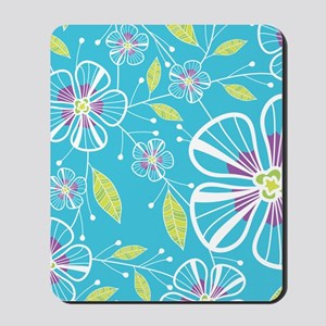 blue_flowers_kindle Mousepad