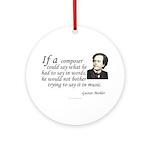 Mahler on Composing Keepsake Ornament