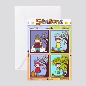 seasons chart Greeting Card