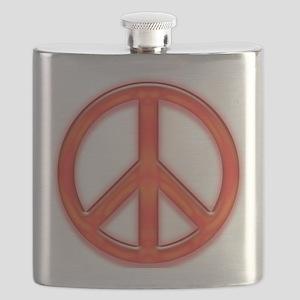 peaceGlowRed Flask