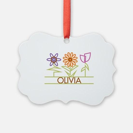 OLIVIA-cute-flowers Ornament