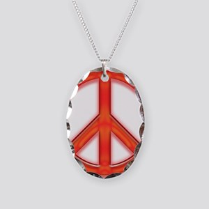 peaceGlowRed Necklace Oval Charm