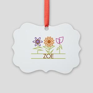 ZOE-cute-flowers Picture Ornament