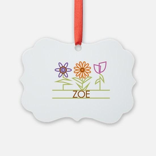 ZOE-cute-flowers Ornament