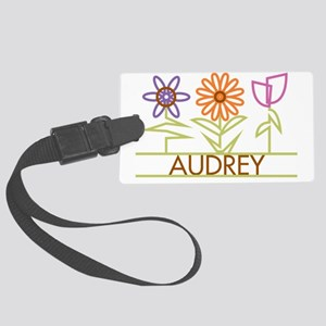 AUDREY-cute-flowers Large Luggage Tag
