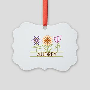 AUDREY-cute-flowers Picture Ornament