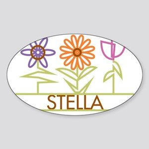 STELLA-cute-flowers Sticker (Oval)