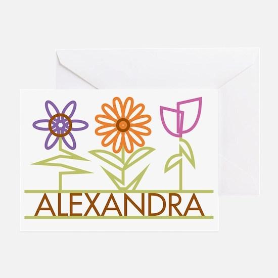 ALEXANDRA-cute-flowers Greeting Card