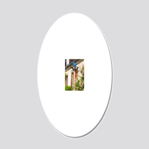 Sign that illustrates the th 20x12 Oval Wall Decal