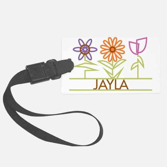 JAYLA-cute-flowers Luggage Tag