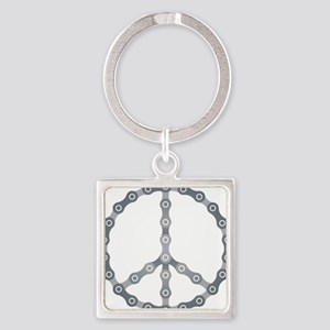 peace chain drk Square Keychain