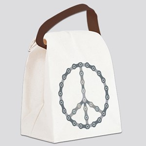 peace chain drk Canvas Lunch Bag