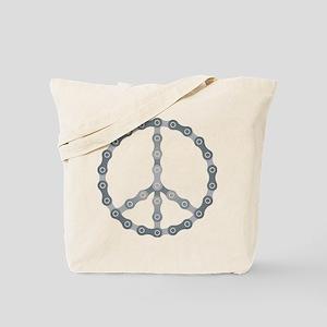 peace chain drk Tote Bag