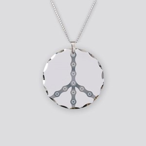 peace chain drk Necklace Circle Charm